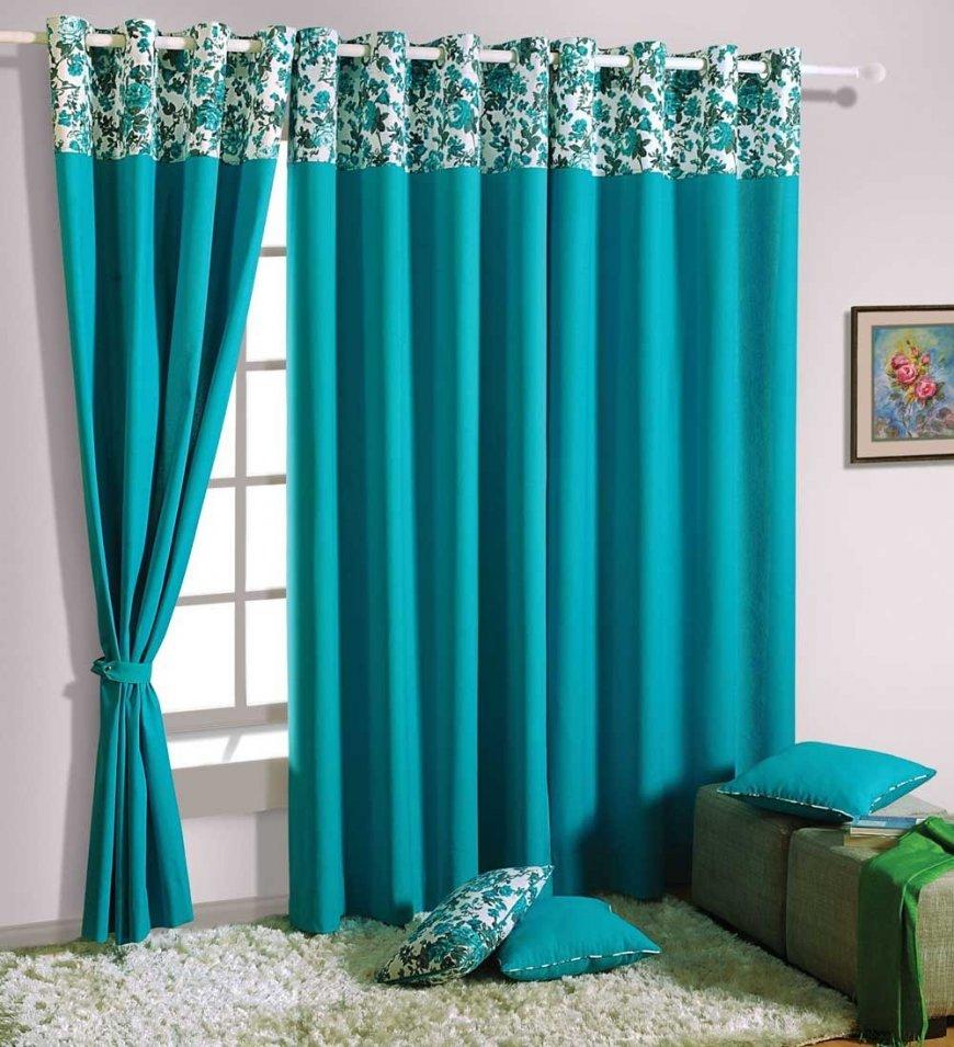 Дизайн штор в бирюзовом цвете — особенности палитры, советы по применению в интерьере, фото идеи