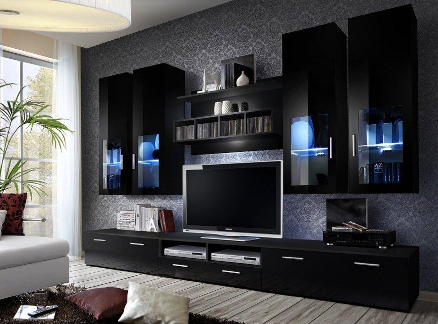 Интерьер гостиной в черном цвете — тонкости и секреты оформления дизайна, большая фото подборка