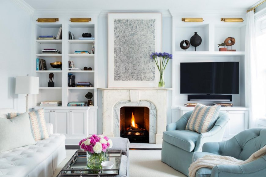 Синяя спальня 76 фото дизайн интерьера в темно-синих тонах в бело-синем сине-золотом и голубом цвете значение цвета