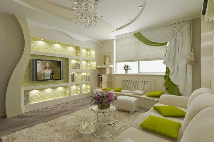 Дизайн потолка из гипсокартона для гостиной — уникальная фото подборка интересных интерьеров