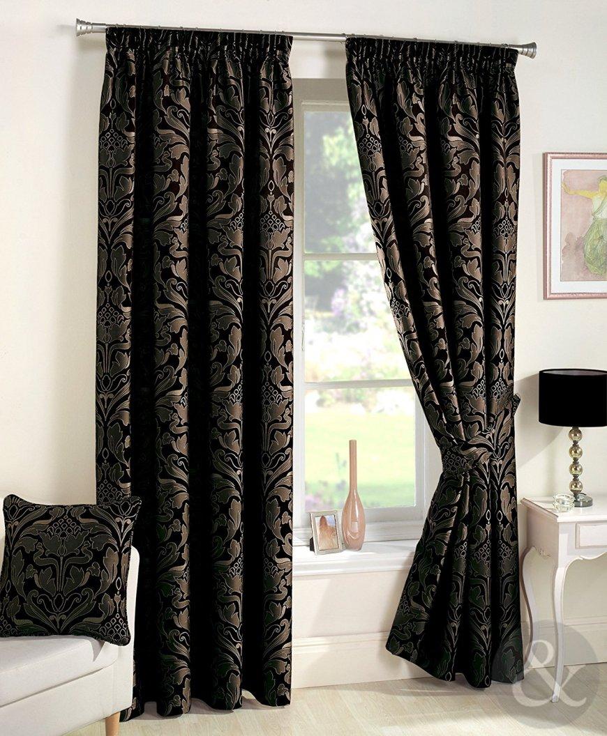 Дизайн штор в черном цвете — особенности и правила применения, уникальная фото подборка