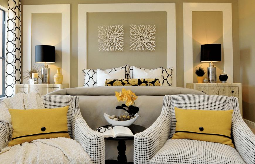 Дизайн гостиной спальни — фото современных идей оформления