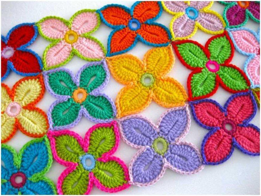 цветы крючком схемы вязания фото идеи пошаговые инструкции для