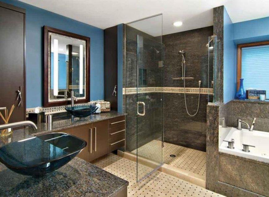 Современный интерьер ванной комнаты — последние тренды, свежие фото