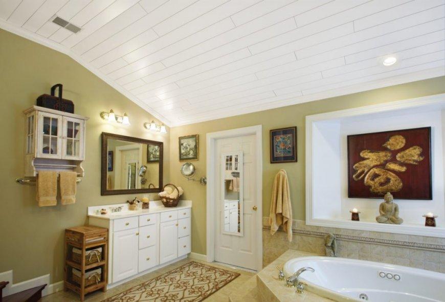 Потолок в ванной комнате: выбор материалов, типа и дизайна