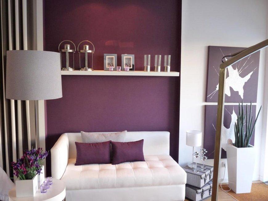 Интерьер гостиной в фиолетовом цвете — особенности оформления, практические советы, интересные фото подборки
