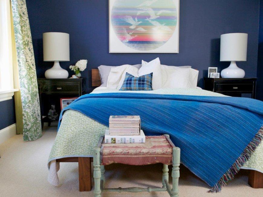 Дизайн спальни в синем цвете — интересные идеи и дельные советы
