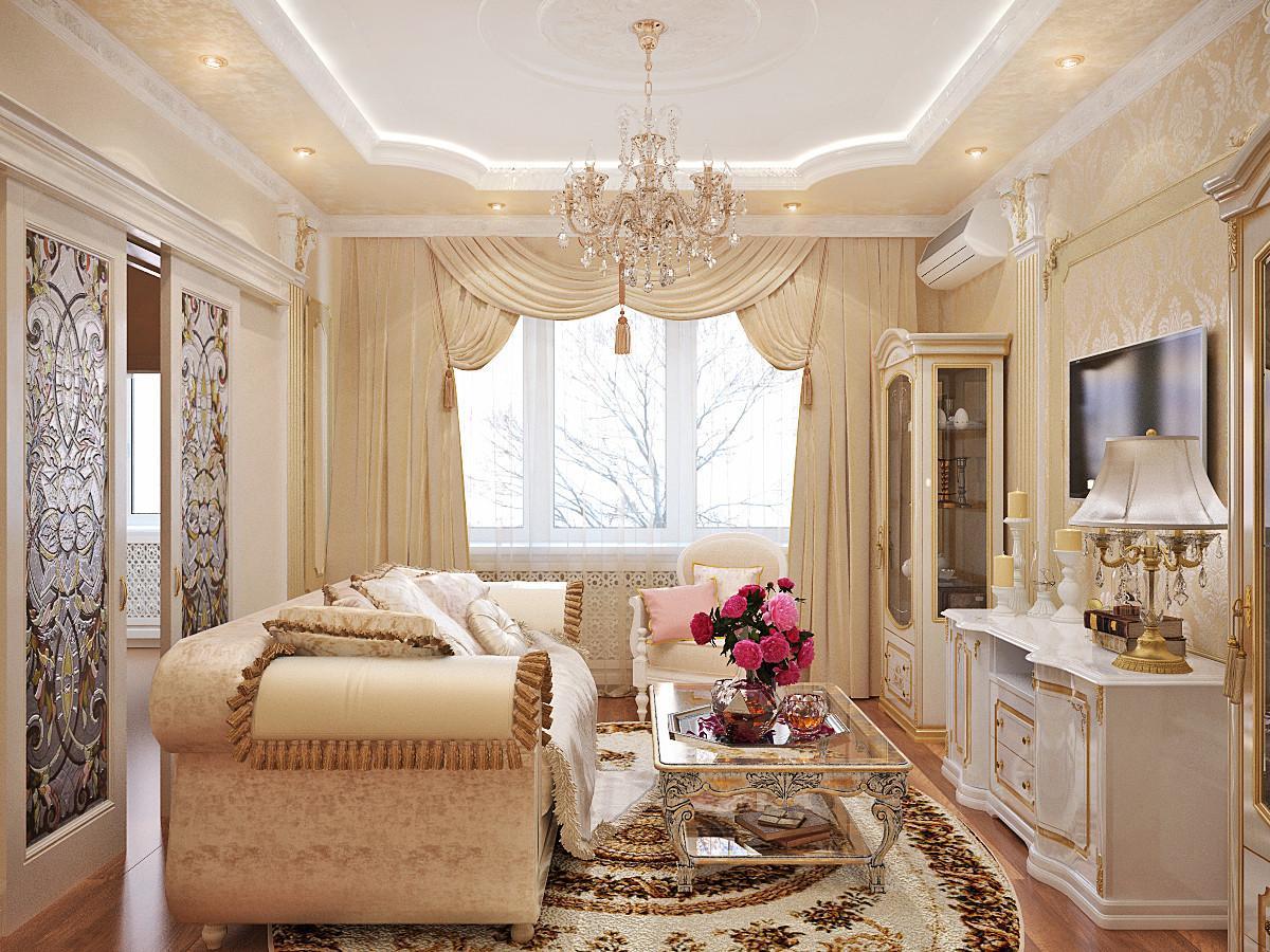 Интерьер гостиной в классическом стиле — особенности оформления, полезные советы и фото идеи