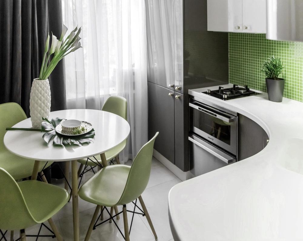Современный дизайн маленькой кухни 6 кв метров