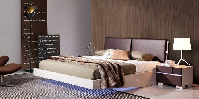 кровать парящая с подсветкой