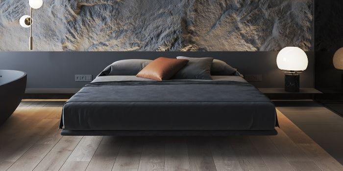 парящая кровать с подъемным механизмом