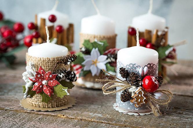 Декоративные свечи своими руками на Новый год: пошаговые мастер классы